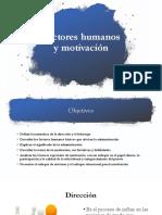 Factores Humanos y Motivacion