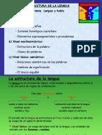 Unidad 3 - La Estructura de La Lengua. Fonemas y Palabras