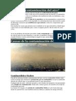 Qué Es La Contaminación Del Aire
