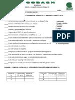 Examen Bloque IV Química I (2019)