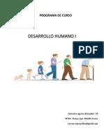 Programa de Curso Desarrollo Humano 2018