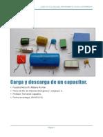 Carga y Descarga de Un Capacitor.