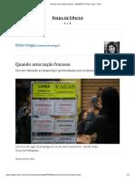 Quando Uma Nação Fracassa - 28-04-2019 - Érica Fraga - Folha