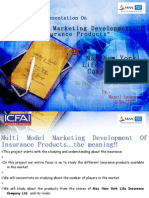 Multi Model Marketing Development of Insurance Products_intrim