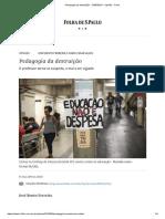 Pedagogia Da Destruição - 15-05-2019 - Opinião - Folha