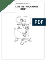 Manual batidora B20F