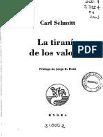 Carl Schmitt - La Tiranía de Los Valores