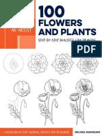 Draw Like an Artist 100 Flowers and Plants - Melissa Washburn