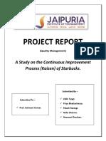 QM Starbucks Project Report