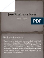 Rizal as a Lover