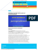 Meaning Nature and Scope of Jurisprudence - L