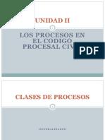 Los Procesos en Código Procesal Civil