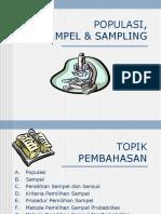 Pertemuan 10_Populasi, Sampel Dan Sampling