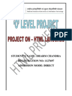 o Level Project HTML Programe