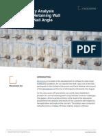 Slope Stability Analysis of Soil Nail RW Considering Nail Angle