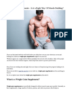 Weight Gain Supplements – is It a Right Way of Muscle Building