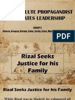 Rizal's life report by group B