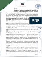 Resolución que establece la distribución de cuota de equidad de género en elecciones ordinaria generales de 2020