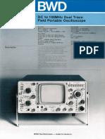 BWD 540 Oscilloscope Brochure