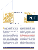 EUGENE NIDA Theories of Translation