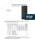 Creación de Una Base de Datos Desde vs Code
