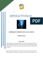 EJERCICIOS PARADETECTAR HIPERACTIVIDAD