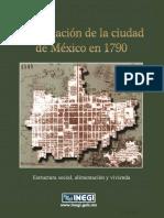 La población de la Ciudad de México en 1790