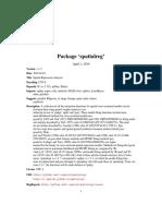 Spatialreg-package in R