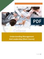 Understanding Management and Leadership