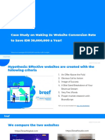 Case Study on Website Conversion Rate to Save IDR 30000000 a Year Breef Studio