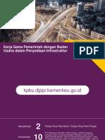Kerjasama Pemerintah Dan Badan Usaha Dalam Penyediaan Insfrastruktur