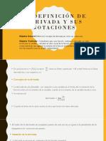 3.2 Definición de Derivada y Sus Notaciones