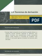 3.4 Teoremas de Derivación