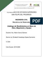Catalogo de Rendimientos.docx
