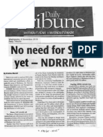 Daily Tribune, Nov. 6, 2019, No need for SOS, yet - NDRRMC.pdf