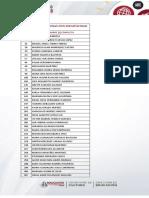 Lista de Resultados Modalidad DISCAPACIDAD