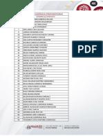 Lista de Resultados Modalidad PREPARATORIA