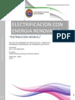 Informe de Weibull Electrificacion con energia renovables