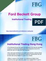 Ford Beckett Group Hong Kong | Institutional Trading Hong Kong