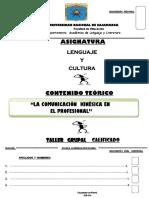 MMMMMMM-  LENGUAJE Y CULTURA- SÍNTESIS  DE LA COMUNICACIÓN KINÉSICA- IMPRIMIR-2014.docx