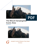 The Mount Sanqingshan Scenic Area