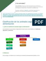 Clasificacion de Los Alimentos de Animales
