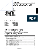 PC200 8,200LC 8,220 8,220LC 8 Troubleshooting Failure Codes Converted