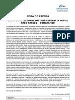 Caso Parcco Pomatambo - Sala Penal Nacional dictará sentencia después de 24 años.