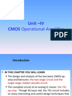 Unit-IV,Cmos Operational Amplifiers