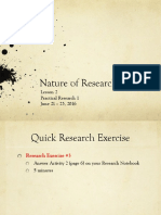 4 Nature of Research