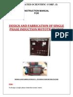 Design & Fabrication of 1-Ph Induction Motor Starter MANUAL