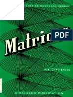 Matrices by PN Chatterjee