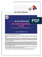 ISO 37001 Certification Anti Bribery System
