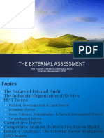 The External Environment Assessment